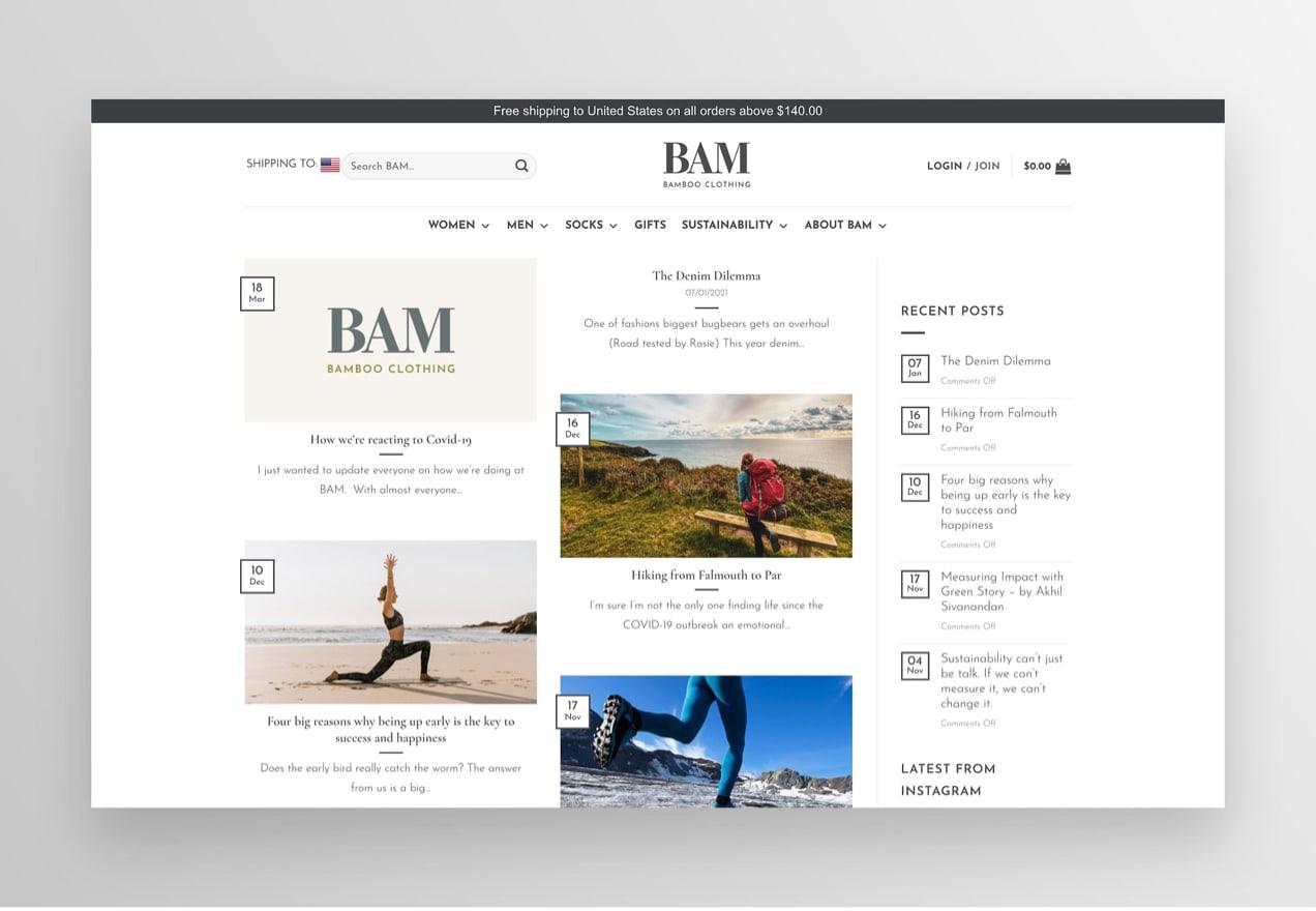 BAM Bamboo clothing blog